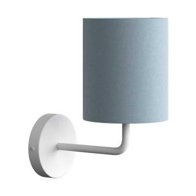 Fermaluce Metall mit Lampenschirm, Wandleuchte aus Metall mit gebogenes Rohr