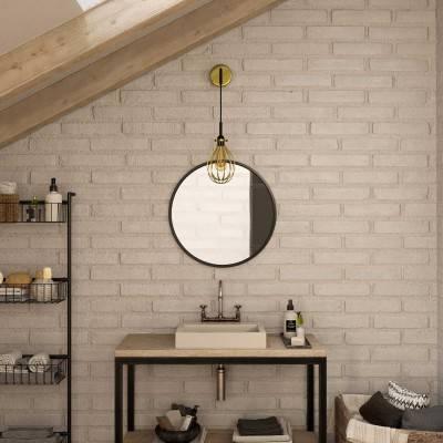 Fermaluce Metal-Stil mit Drop Lampenschirm und gebogenes Roh, Wandleuchte aus Metall