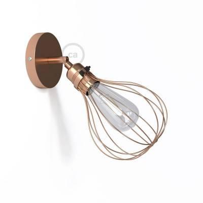 Fermaluce Metal 90°, verstellbare Wandleuchte aus Metall mit Lampenschirm aus Metall in Tropfenform