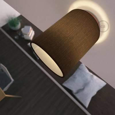 Fermaluce Metal mit zylindrischem Lampenschirm, Wand- und Deckenmontage