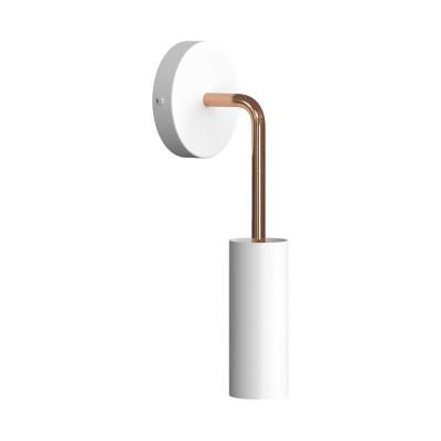 Fermaluce Metal, Metallwandleuchte mit Tub-E14 und gebogener Verlängerung