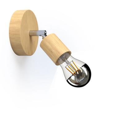 Fermaluce Wood 90° die Leuchte aus Naturholz für Ihre Wand und Decke