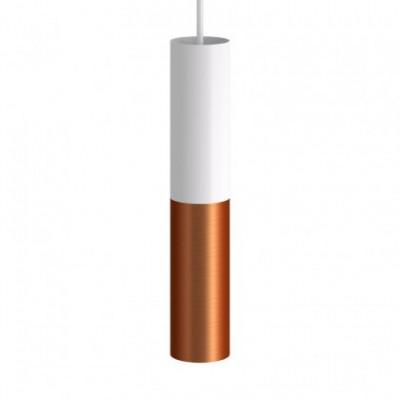 Tub E14, doppeltes Metallrohr für Punktstrahler mit Lampenfassung und E14-Doppelringmutter