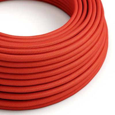 Textilkabel rund, Außenbereich, rot mit Seideneffekt, SM09