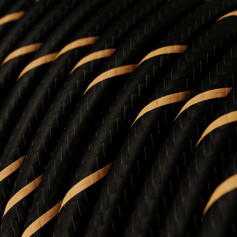 Pendelleuchte mit Mehrfachaufhängung mit 2 Ausgängen, komplett mit Textilkabel und Metall-Zubehör