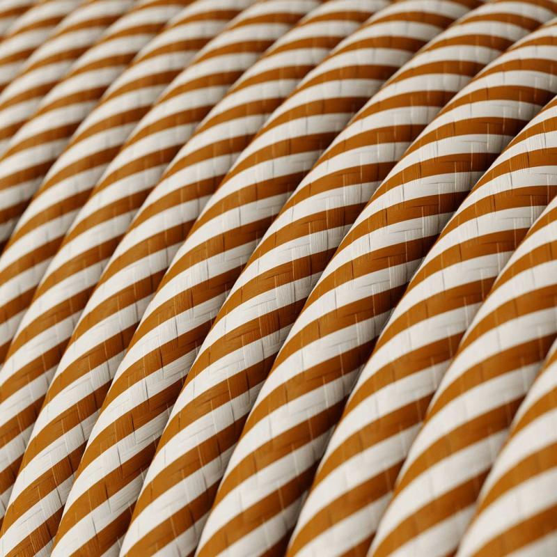 Pendelleuchte mit Mehrfachaufhängung mit 3 Ausgängen, komplett mit Textilkabel und Metall-Zubehör