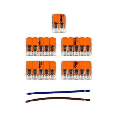 Kit Verbindungsklemme WAGO kompatibel mit Kabel 2x für Lampenbaldachin mit 7 Löchern