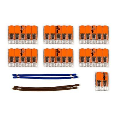 Kit Verbindungsklemme WAGO kompatibel mit Kabel 2x für Lampenbaldachin mit 9 Löchern
