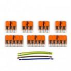 Kit Verbindungsklemme WAGO kompatibel mit Kabel 3x für Lampenbaldachin mit 5 Löchern