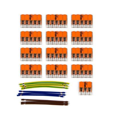 Kit Verbindungsklemme WAGO kompatibel mit Kabel 3x für Lampenbaldachin mit 13 Löchern
