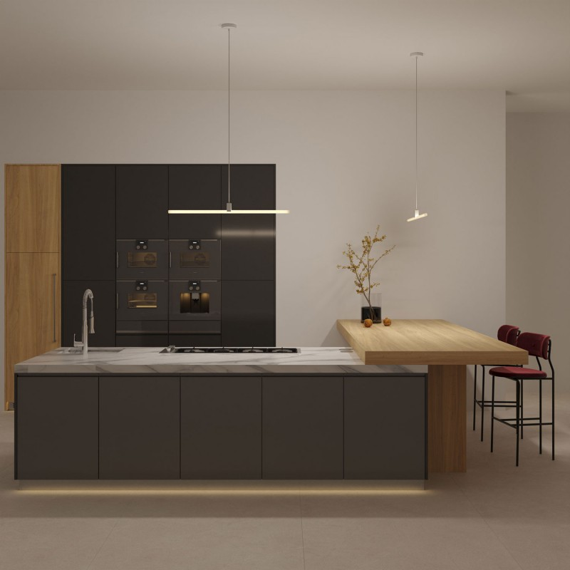 Pendelleuchte inklusive Textilkabel, S14d Syntax® Lampenfassung und Metall-Zubehör - Made in Italy