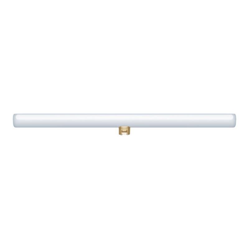 Wandleuchte mit Syntax S14d-Lampenfassung, L-förmigem Arm und ovaler Holzlampenbaldachin