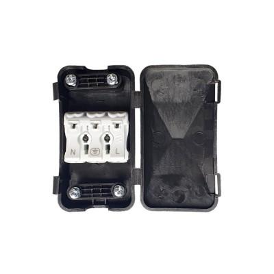 Anschluss-Kit mit Schutzgehäuse für Kabel und doppelter Zugentlastung