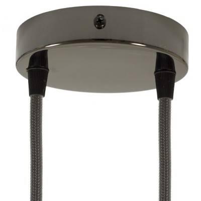 Zylindrischer 2-Loch-Lampenbaldachin Kit aus Metall