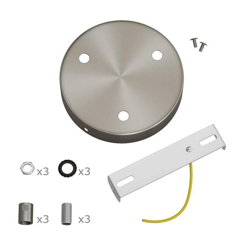 Zylindrischer 3-Loch-Lampenbaldachin Kit aus Metall