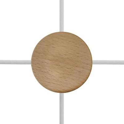 Kit runder Mini-Baldachin aus Holz mit 4 seitlichen Löchern (Auslassverbindung)