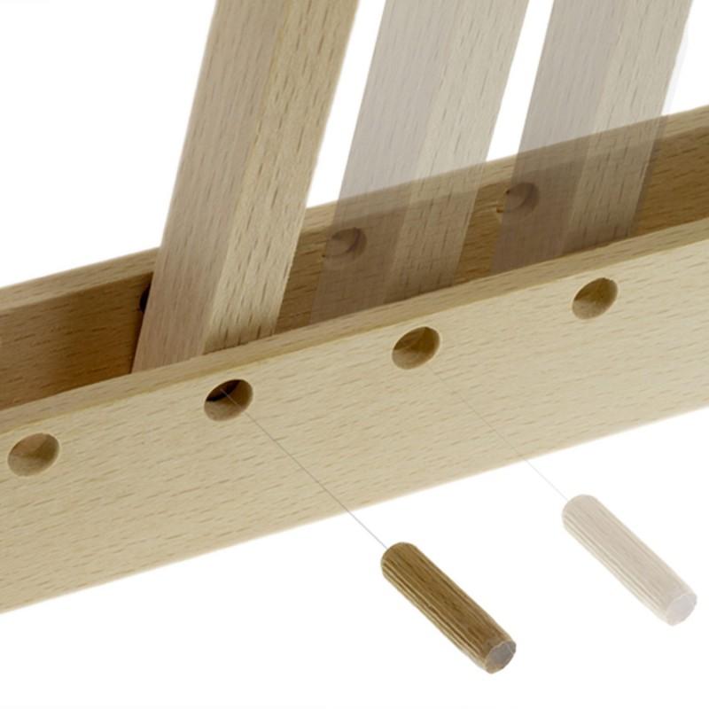 Pinocchio, verstellbare Wandhalterung aus Holz für Pendelleuchten