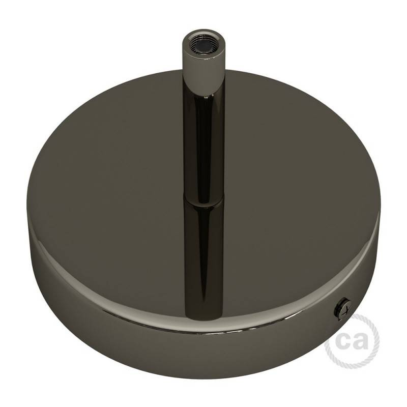 Zylindrischer Lampenbaldachin Kit aus Metall mit 7 cm Kabelklemme