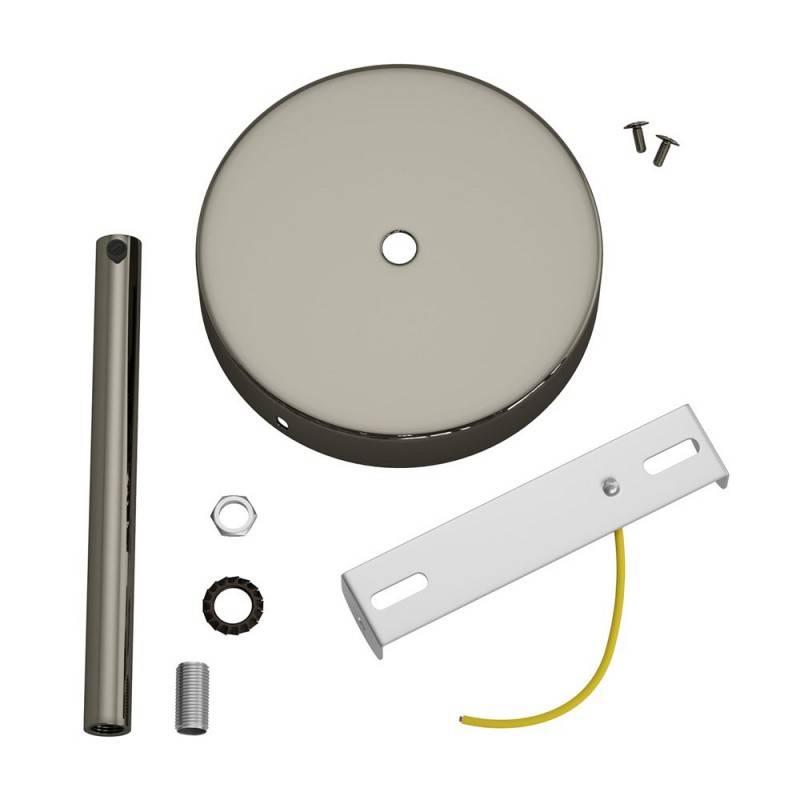 Zylindrischer Lampenbaldachin Kit aus Metall mit 15 cm Kabelklemme