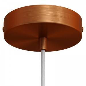 Zylindrischer Lampenbaldachin Kit aus Metall
