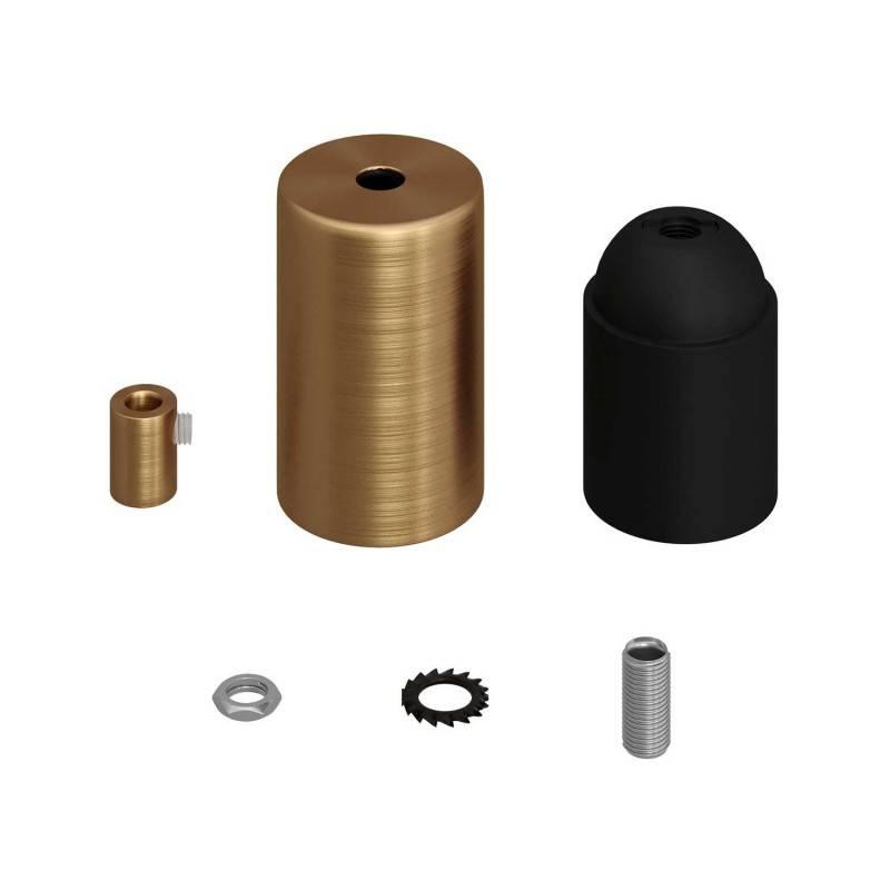 Zylindrisches E27-Lampenfassungs-Kit aus Metall