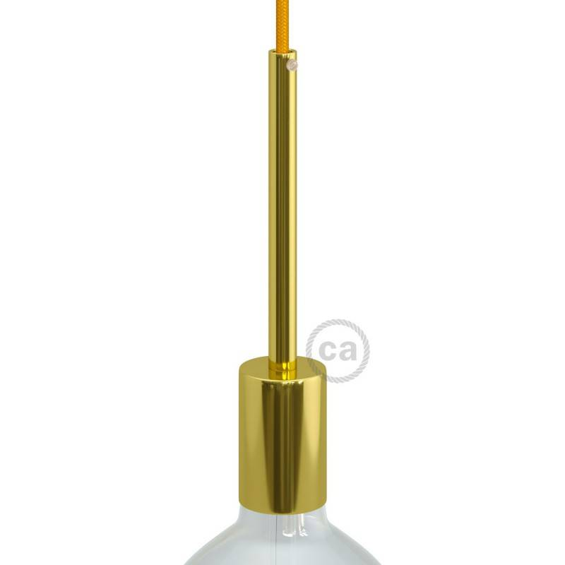 Zylindrisches E27-Lampenfassungs-Kit aus Metall mit 15 cm Kabelklemme