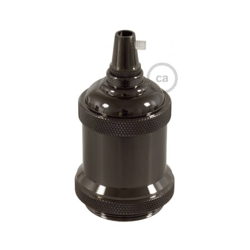 Vintage E27-Lampenfassungs-Kit aus Aluminium