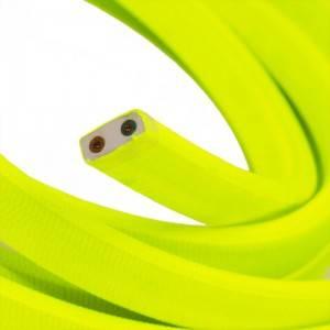 Elektrisches Kabel für Lichterketten, überzogen mit Gelb Textilgewebe Seideneffekt CF10