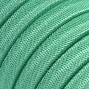 Elektrisches Kabel für Lichterketten, überzogen mit Opalgrün Textilgewebe Seideneffekt CH69