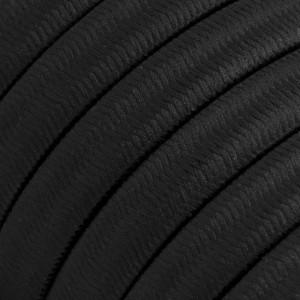 Elektrisches Kabel für Lichterketten, überzogen mit Schwarz Textilgewebe Seideneffekt CM04
