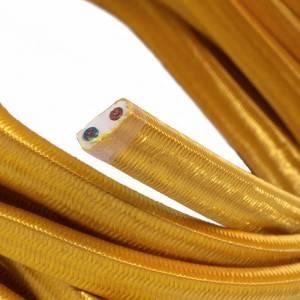 Elektrisches Kabel für Lichterketten, überzogen mit Goldfarbig Textilgewebe Seideneffekt CM05