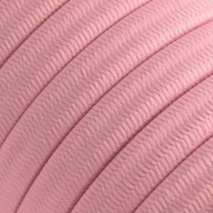 Elektrisches Kabel für Lichterketten, überzogen mit Rosa Baby Textilgewebe Seideneffekt CM16