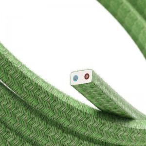 Elektrisches Kabel für Lichterketten, überzogen mit Pixel Bronte Textilgewebe Baumwolle CX08