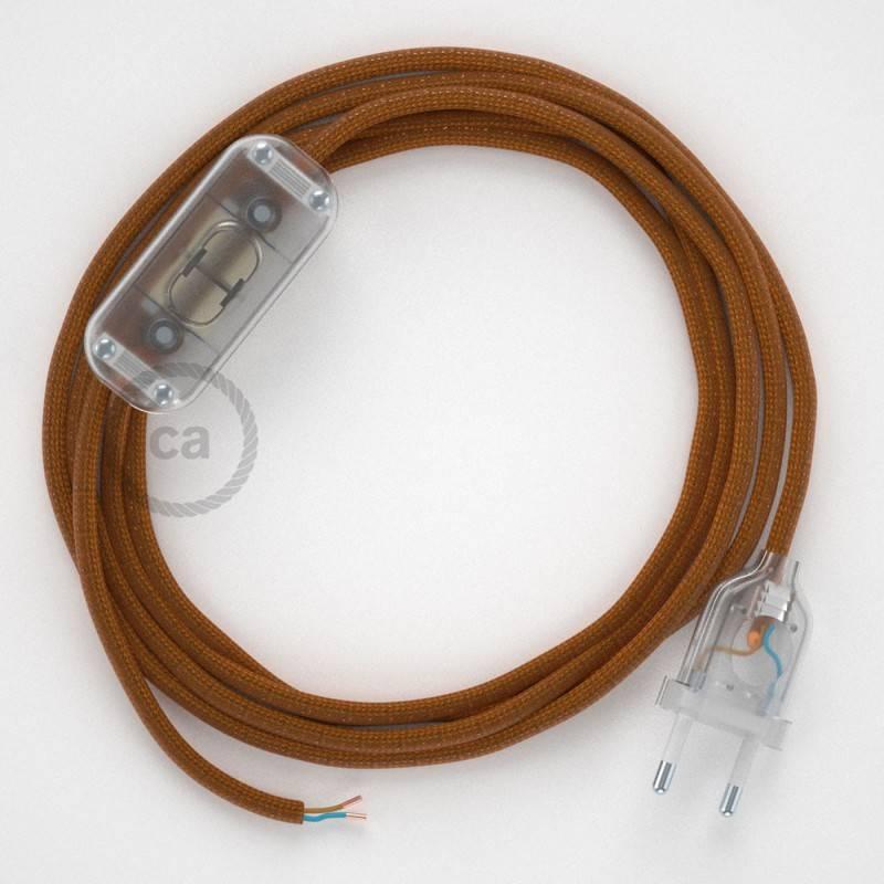 Zuleitung für Tischleuchten RM22 Whiskey Seideneffekt 1,80 m. Wählen Sie aus drei Farben bei Schalter und Stecke.