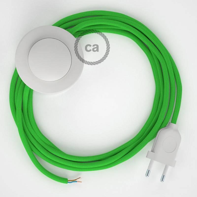 Stehleuchte Anschlussleitung RM18 Limegrün Seideneffekt 3 m. Wählen Sie aus drei Farben bei Schalter und Stecke.