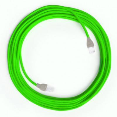 LAN-Kabel - Ethernet Cat 5e mit RJ45-Anschlüsse - RF06 Seideneffekt Fluo Grün