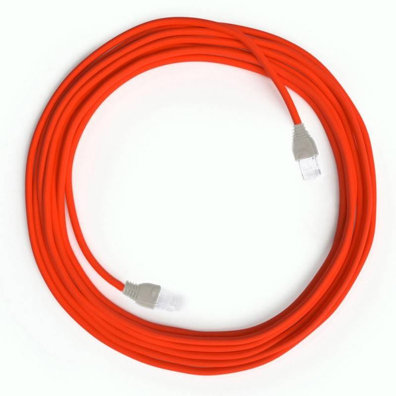 LAN-Kabel - Ethernet Cat 5e mit RJ45-Anschlüsse - RF15 Seideneffekt Fluo Orange