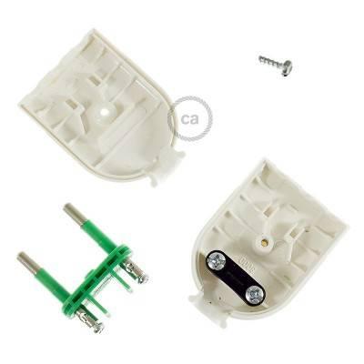 Stecker Weiß 2 polig 10A (klein) – IMQ – Made in Italy