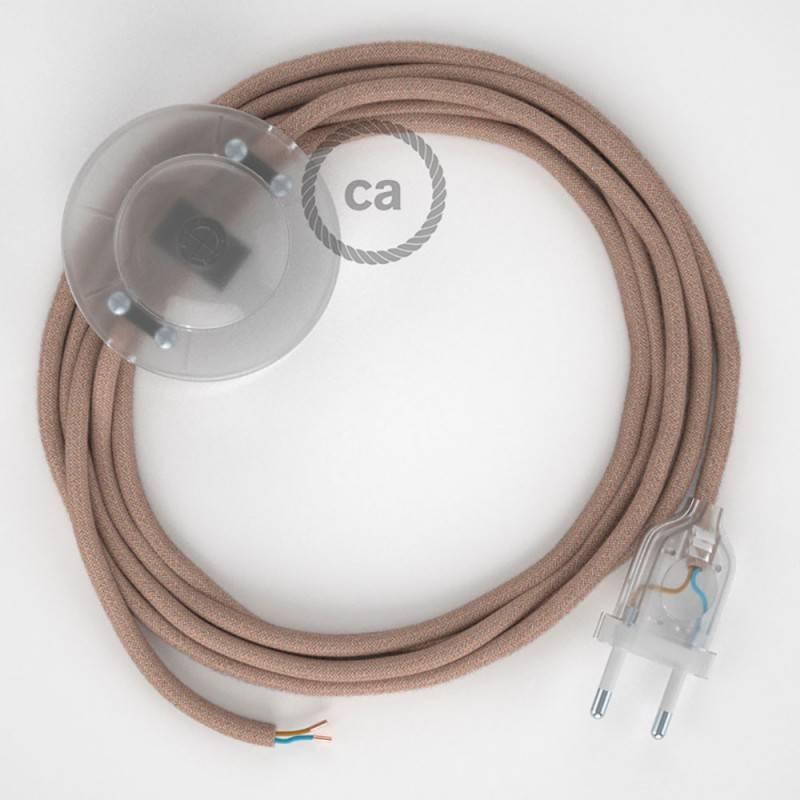 Stehleuchte Anschlussleitung RD71 Zick-Zack Antikrosa 3 m. Wählen Sie aus drei Farben bei Schalter und Stecke.