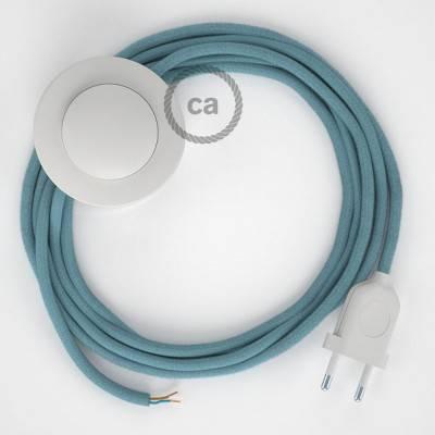 Stehleuchte Anschlussleitung RC53 Ocean Baumwolle 3 m. Wählen Sie aus drei Farben bei Schalter und Stecke.
