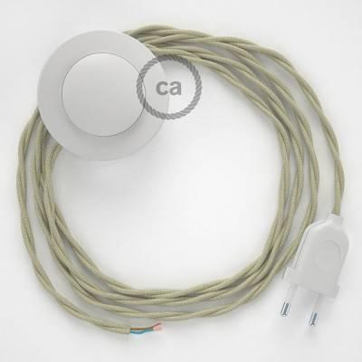 Stehleuchte Anschlussleitung TC43 Taubengrau Baumwolle 3 m. Wählen Sie aus drei Farben bei Schalter und Stecke.