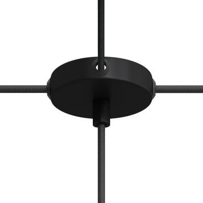 Mini zylindrischer Lampenbaldachin Kit aus Metall mit 1 Haupt- und 4 Seitenlöchern