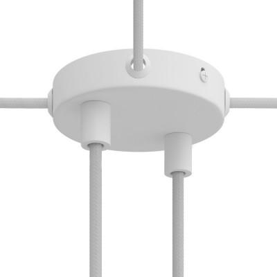 Mini zylindrischer Lampenbaldachin Kit aus Metall mit 2 Haupt- und 4 Seitenlöchern