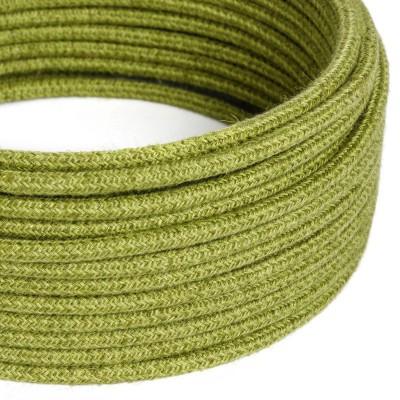 Rundes Textilkabel, Jute, einfarbig Heufarben, RN23