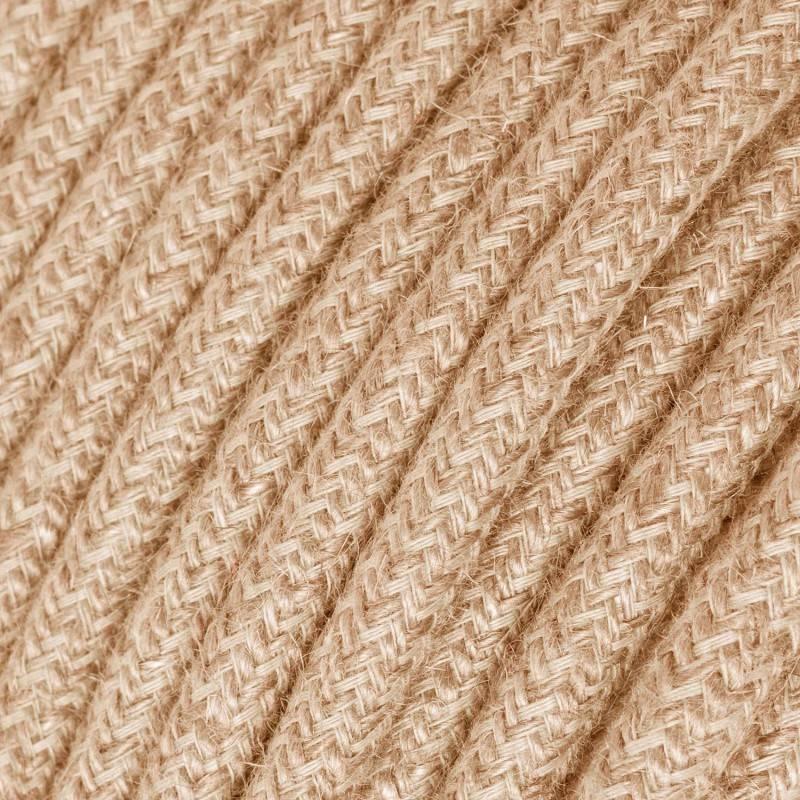 Textilkabel rund, überzogen mit Jutefaser, RN06
