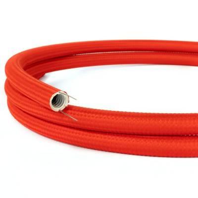 Creative-Tube, Durchmesser 20 mm, in Seideneffekt RM09 rot, mit modularer Kabelkanal