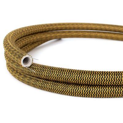 Creative-Tube mit Zick-Zack-Muster und Seideneffekt RZ24 in Gold und Schwarz, Durchmesser 20 mm