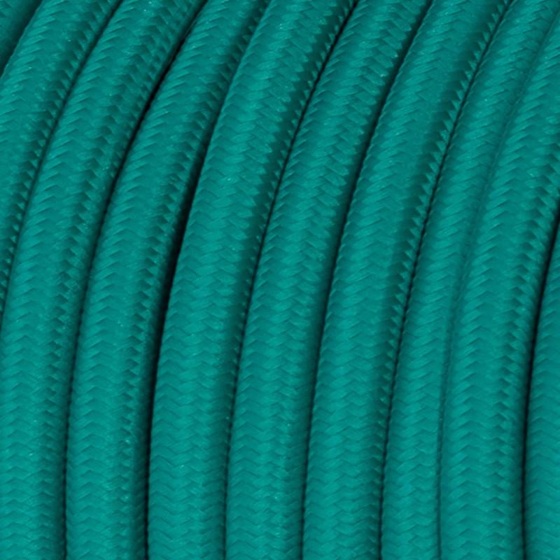 Textilkabel rund, hellblau mit Seideneffekt, RM71