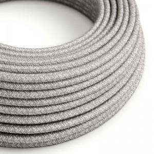 Outdoor-Kabel mit natürlicher Leinen in Grau SN02, rund - für EIVA IP65