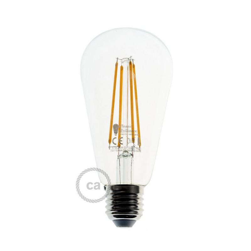 Snake Eiva mit Swing Lampenschirm, tragbare Außenleuchte, 5m Textilkabel, wasserdichte IP65 Lampenfassung und Stecker